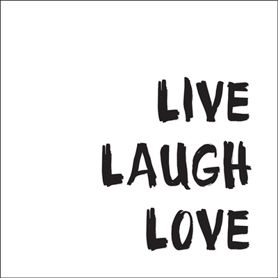 Sticker - Live Laugh Love